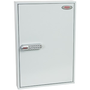 Phoenix Commercial Key Cabinet KC0603S 100 Hook with Electronic Lock & Push Shut Latch.