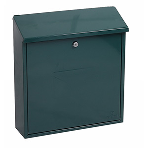 Phoenix Casa Top Loading Mail Box MB0111KG in Green with Key Lock