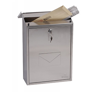 Phoenix Villa Front Loading Mail Box MB0114KS in Stainless Steel with Key Lock