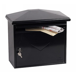 Phoenix Libro Front Loading Mail Box MB0115KB in Black with Key Lock