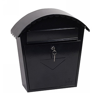 Phoenix Clasico Front Loading Mail Box MB0117KB in Black with Key Lock