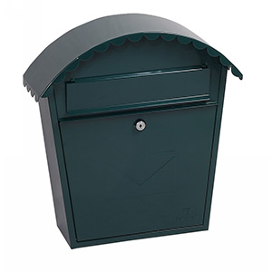 Phoenix Clasico Front Loading Mail Box MB0117KG in Green with Key Lock