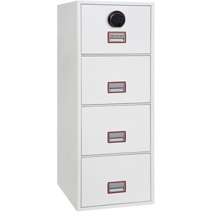 Phoenix World Class Vertical Fire File FS2254F 4 Drawer Filing Cabinet with Fingerprint Lock