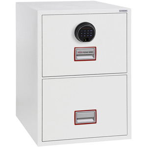 Phoenix World Class Vertical Fire File FS2262F 2 Drawer Filing Cabinet with Fingerprint Lock