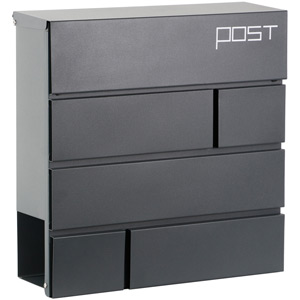 Phoenix Estilo MB0121KA Top Loading Letter box with Key Lock - Grey