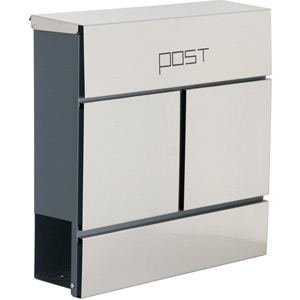 Phoenix Estilo MB0124KS Top Loading Letter box with Key Lock - Grey