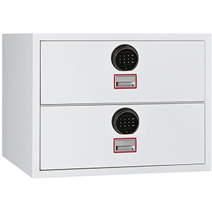 Phoenix World Class Lateral Fire File FS2412F 4 Drawer Filing Cabinet with Fingerprint Lock