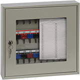 Phoenix Clear View Key Cabinet KC0401K 30 Hook with Key Lock