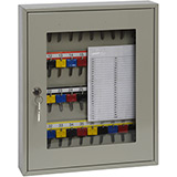 Phoenix Clear View Key Cabinet KC0402K 40 Hook with Key Lock