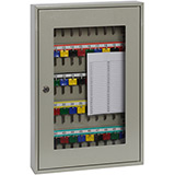 Phoenix Clear View Key Cabinet KC0403K 50 Hook with Key Lock
