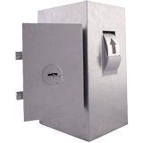 De Raat Protector Key Security Box KSB 001 - Wall Fixing Drum On Left - Key Lock
