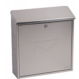 Phoenix Casa Front Loading Mail Box MB0111KS in Stainless Steel with Key Lock