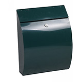 Phoenix Curvo Top Loading Mail Box MB0112KG in Green with Key Lock