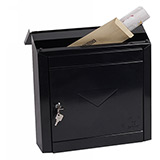 Phoenix Moda Top Loading Mail Box MB0113KB in Black with Key Lock