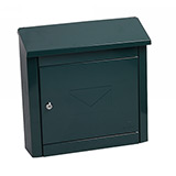 Phoenix Moda Top Loading Mail Box MB0113KG in Green with Key Lock