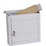 Phoenix Moda Top Loading Mail Box MB0113KW in White with Key Lock