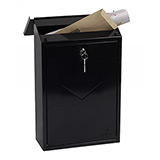 Phoenix Villa Top Loading Mail Box MB0114KB in Black with Key Lock