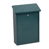 Phoenix Villa Top Loading Mail Box MB0114KG in Green with Key Lock