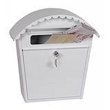 Phoenix Clasico Front Loading Mail Box MB0117KW in White with Key Lock