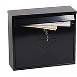 Phoenix Correo Front Loading Mail Box MB0118KB in Black with Key Lock