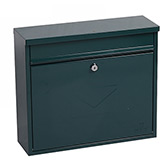 Phoenix Correo Front Loading Mail Box MB0118KG in Green with Key Lock