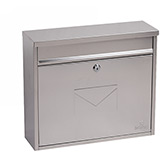 Phoenix Correo Front Loading Mail Box MB0118KS in Stainless Steel with Key Lock