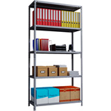 Phoenix AR Series AR2014/5G 5 Shelf Static Shelving Unit in Grey