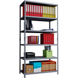 Phoenix AR Series AR2015/6G 6 Shelf Static Shelving Unit in Grey