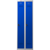 Phoenix PL Series PL2160GBC 2 Column 2 Door Personal Locker Combo Grey Body/Blue Doors with Combination Locks