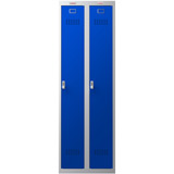 Phoenix PL Series PL2160GBE 2 Column 2 Door Personal Locker Combo Grey Body/Blue Doors with Electronic Locks