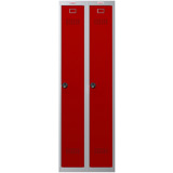 Phoenix PL Series PL2160GRC 2 Column 2 Door Personal Locker Combo Grey Body/Red Doors with Combination Locks