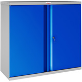 Phoenix SCL Series SCL0891GBK 2 Door 1 Shelf Steel Storage Cupboard Grey Body & Blue Doors with Key Lock