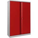 Phoenix SCL Series SCL1491GRK 2 Door 3 Shelf Steel Storage Cupboard Grey Body & Red Doors with Key Lock