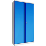 Phoenix SCL Series SCL1891GBK 2 Door 4 Shelf Steel Storage Cupboard Grey Body & Blue Doors with Key Lock