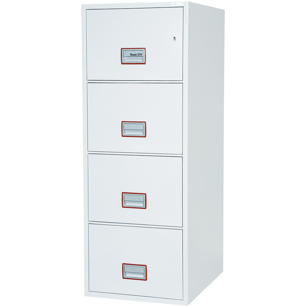 Astounding Phoenix World Class Vertical Fire File Fs2254K 4 Drawer Filing Cabinet With Key Lock Interior Design Ideas Grebswwsoteloinfo